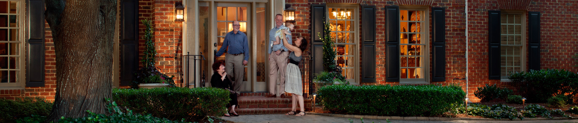 Greater Cincinnati, Ohio area landscape lighting is great for social gatherings with family or friends.