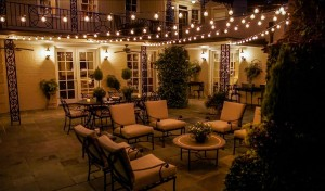 Dayton OH Festive Bistro-Inspired Outdoor Lighting over Patio