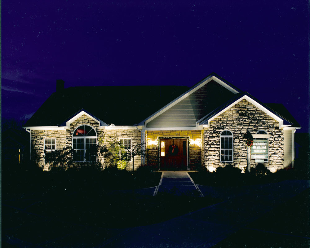 Outdoor lighting for a Beavercreek, Ohio home.