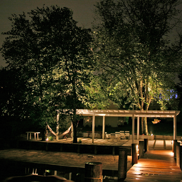 Outdoor garden lighting and pergola lighting in Dayton, OH.
