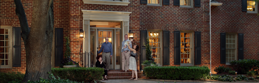 Landscape lighting enhances home security in Dayton, OH.