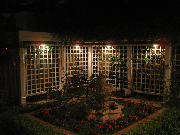 Pergola lighting for a Cincinnati, OH family.